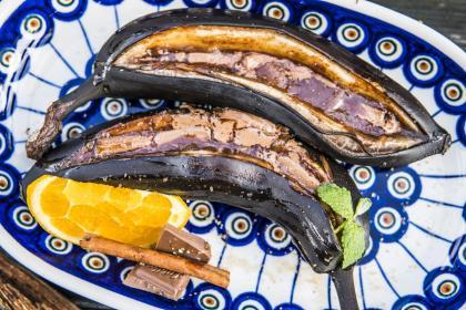 Bananowo - czekoladowy deser w grilla