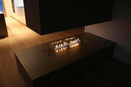 Biokominek w salonie i sypialni - nowoczesne aranżacje wnętrz